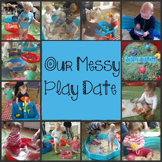 We had a messy play date with all our friends. Lots of fun activities for babies, toddlers and big children too.