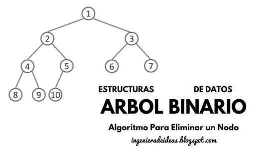 Algoritmo Para Eliminar un Nodo en un Árbol Binario - Ingeniera de Ideas