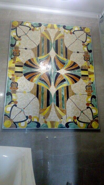 Панно мозаика витражное стекло