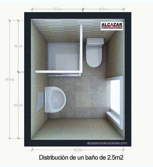 baños distribucion pequeños - Buscar con Google                                                                                                                                                                                 Más