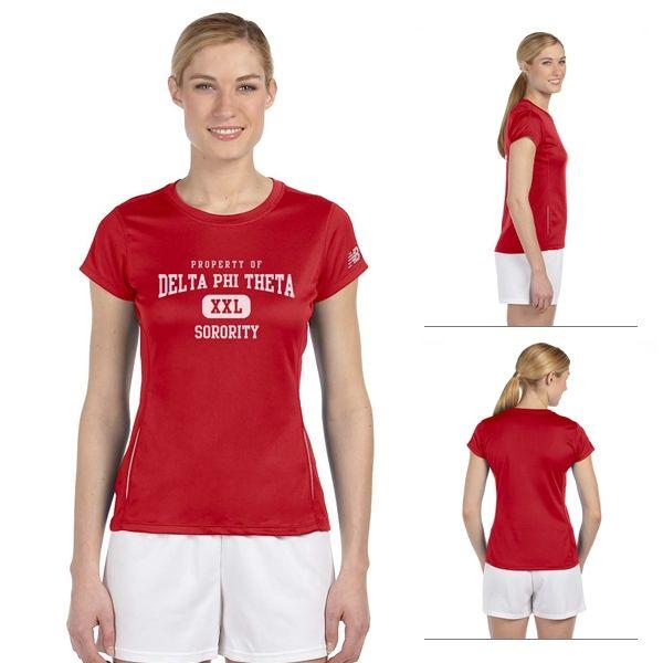 New Balance 9118L Ladies' Tempo Performance T-Shirt   Screen Printed Logo New Balance Athletic T-Shirts