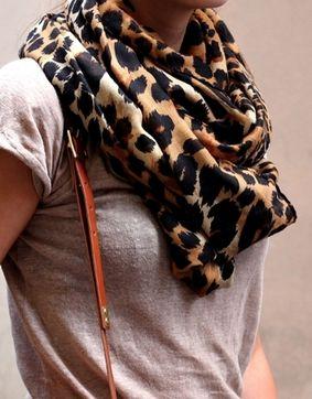 leopard + tee