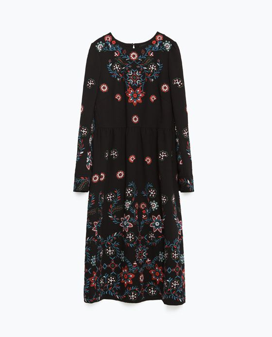 Image 8 of LONG EMBROIDERED DRESS from Zara