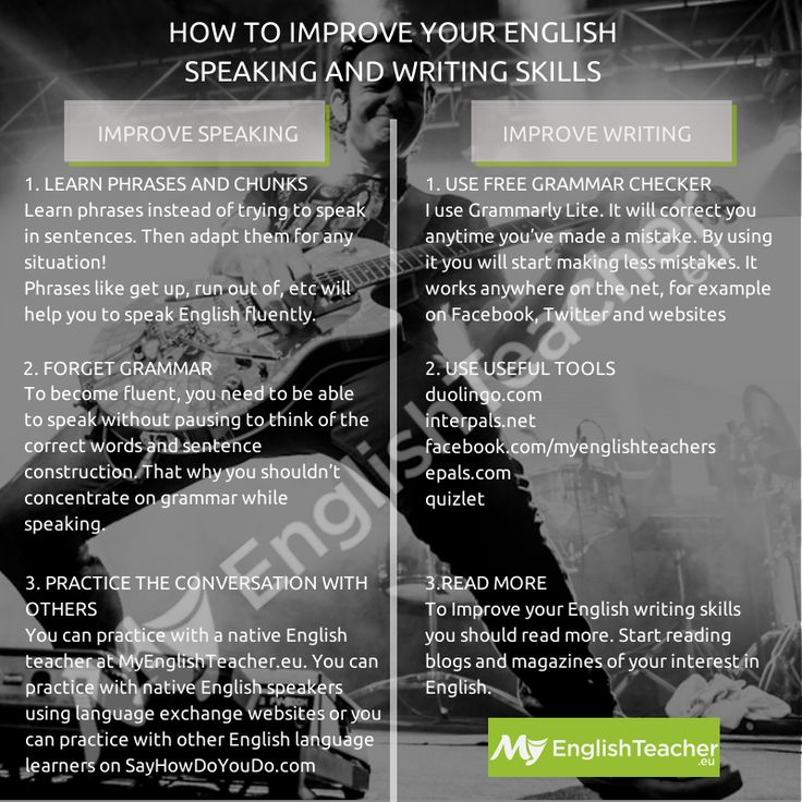 how to develop effective speaking and writing skills in english