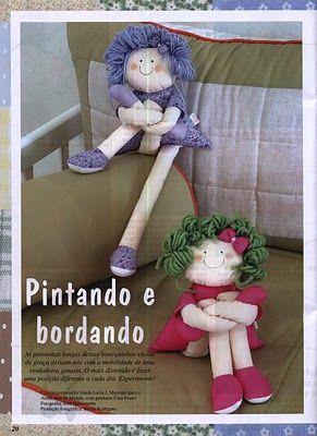 As pessoas admiram muito esta bonequinha, por este motivo resolvi postar os moldes e o passo a passo para todas poderem fazer. Aproveitem.  ...