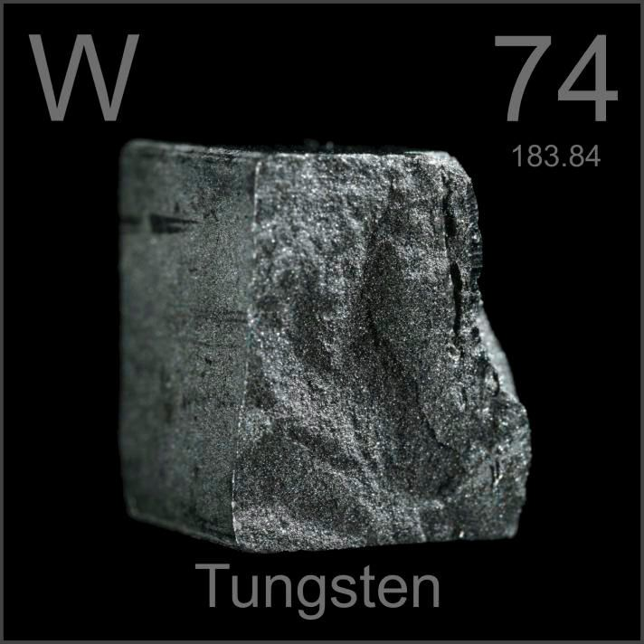 Tungsten used in the Defense industry to make armor and weapons.  It is also used to harden metal making super strong alloys.