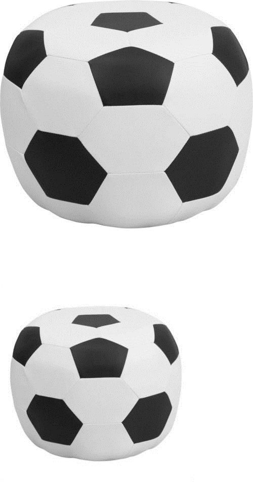 Kids Furniture: Soccer Stool In Black And White Transitional Chair Flash Furniture Kids New Fs -> BUY IT NOW ONLY: $75 on eBay!