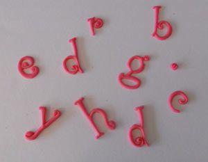 Fondant Letters
