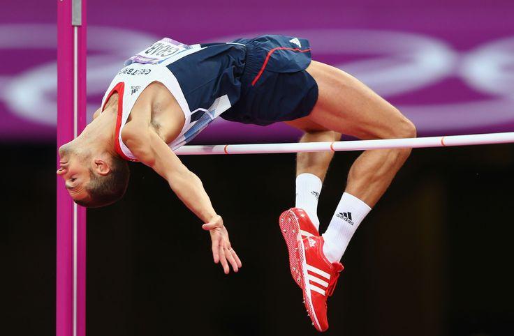 Robbie Grabarz winning bronze in the high jump at London 2012