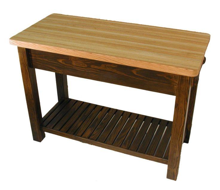 Amazon Com Caney Creek Prep Table With Butcher Block Top Kitchen Storage Carts