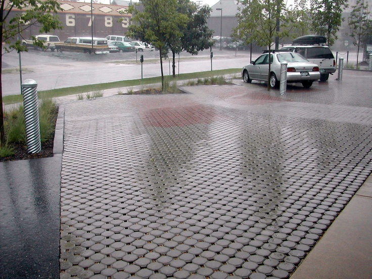 permeable paving in parking lot - Permeable Patio Ideas