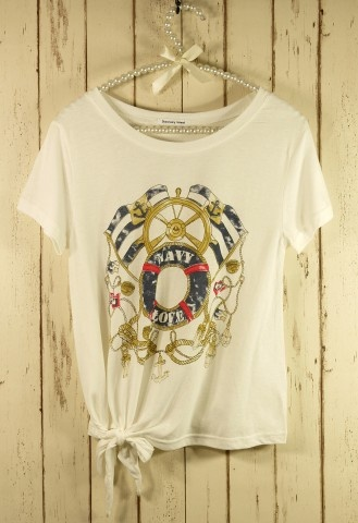 Navy Breeze Print T-shirt