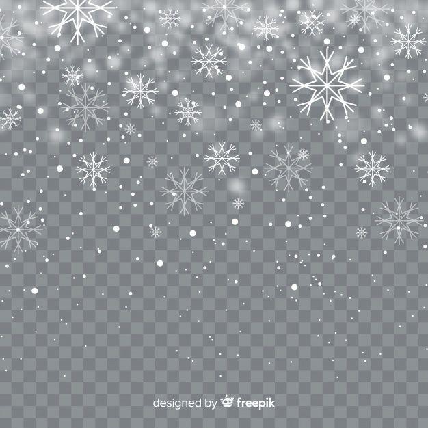 Realistichnye Padayushie Snezhinki Na Prozrachnom Fone White Christmas Background Snowflakes Snow Vector