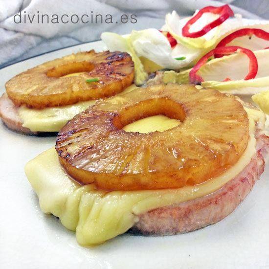 Chuletas de cerdo con piña < Divina Cocina