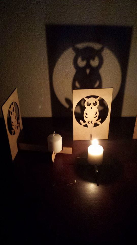 This is a single panel laser cut candle holder/projector is amazing. This laser cut creation is an idea I had whilst working late in my shop the other