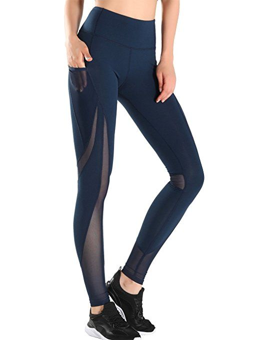 JIMMY DESIGN Damen Tech Mesh Sport Leggings Laufhose: Amazon.de: Bekleidung