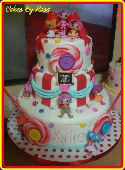 Lala Loopsy Cake - by Rosita @ CakesDecor.com - cake decorating website