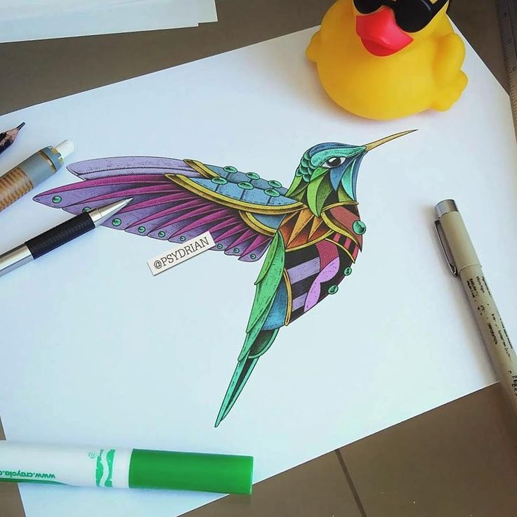 """518 kedvelés, 6 hozzászólás – ADRIAN DOMINGUEZ  (@psydrian) Instagram-hozzászólása: """"TBT Hummingbird Vol2   . #sketch #hummingbird #Tattoo #Ink #Mandala #Zentangle #geometric…"""""""