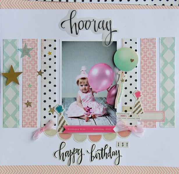 Hooray! Happy Birthday *My Creative Scrapbook MAY Main Kit* - Scrapbook.com