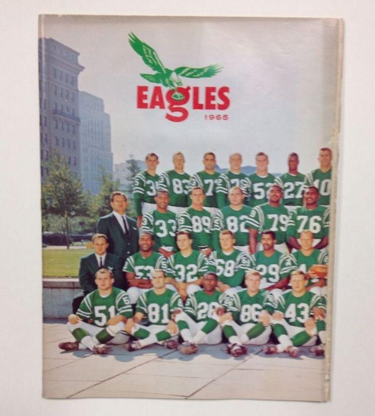 1965 Philadelphia Eagles Vs Washington Redskins Football Program - Nice #PhiladelphiaEagles