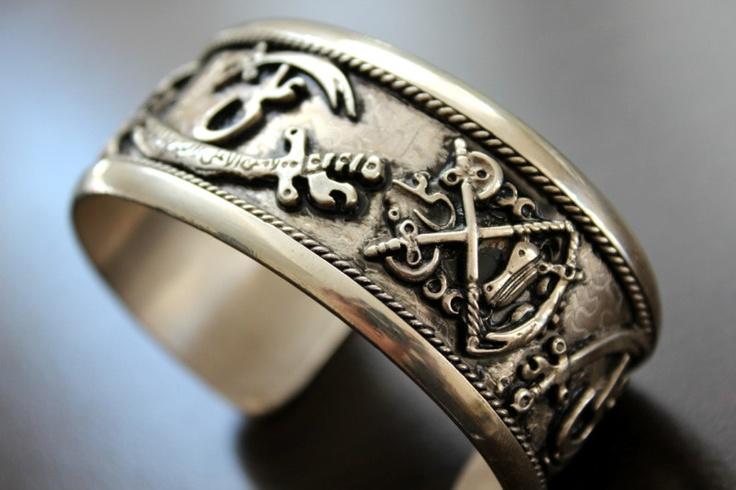 ISLAMIC ARABIC bracelet zolfaghar Zulfiqar sterling silver ALI muslim wristband