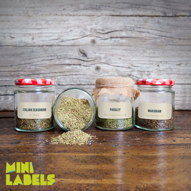 Labels for spice jars (47 pcs, baige) by Minilabels on Etsy