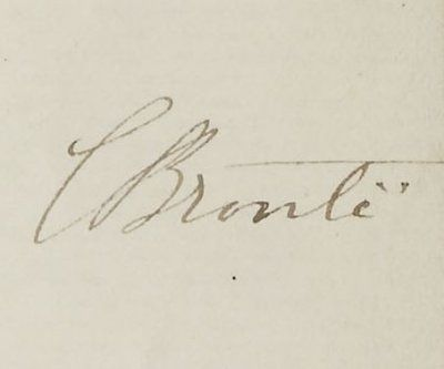 Autograph of Charlotte Bronte in an 1853 letter.