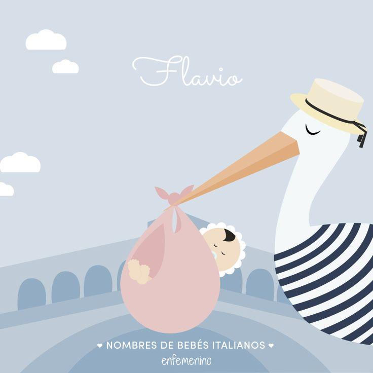 #Nombres italianos para #bebés y sus significados #babynames #babyshower #Italy #Flavio
