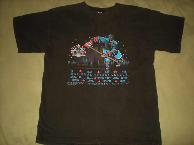 VINTAGE 1994 NHL ALL STAR GAME MADISON SQ GARDEN NYC YOUTH SIZE LARGE T SHIRT #Logo7