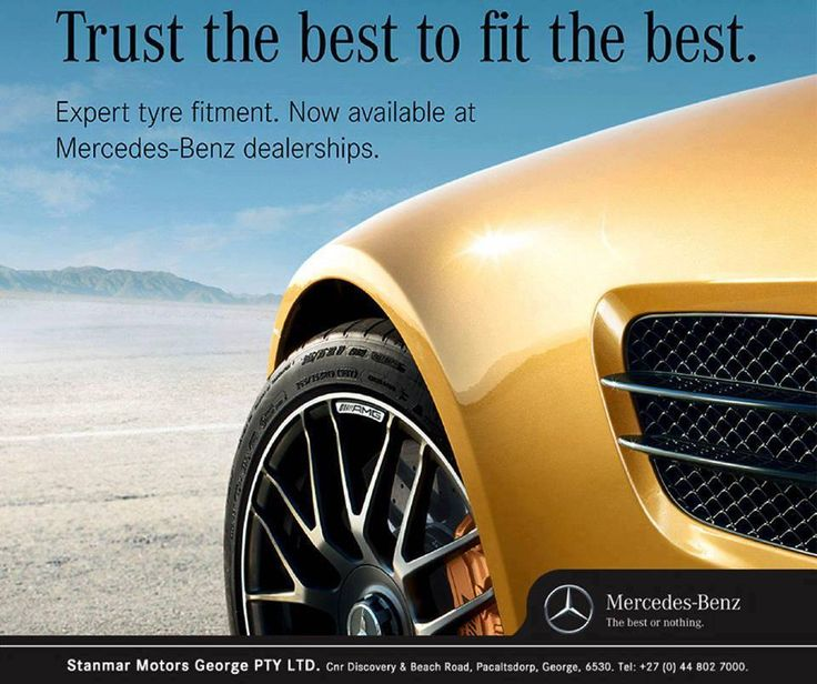Mercedes-Benz, expert tyre fitment. The best cars deserve the best #tyre fitment. Contact #TeamStanmar for more information on 044 802 7000. #MercedesBenz