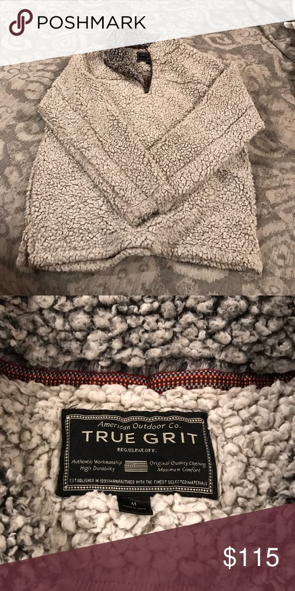 True grit pullover Putty color. Size M. Worn but fantastic condition. No stains. true grit  Jackets & Coats