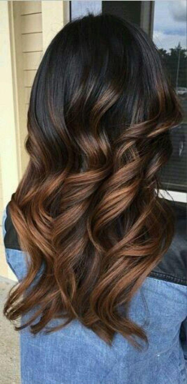 Couleur de cheveux ton caramel