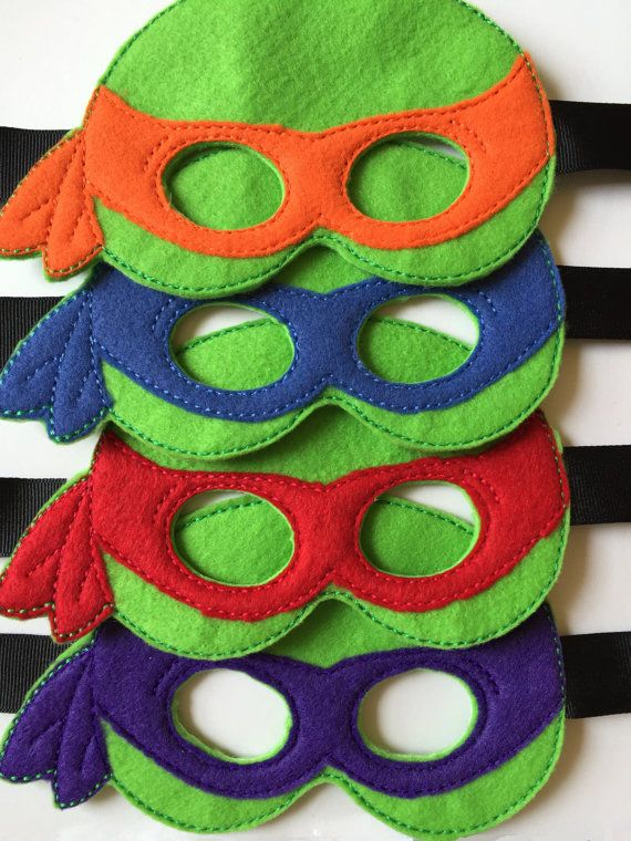Teenage Mutant Ninja Turtle Masks Full Set by LitoDesigns on Etsy