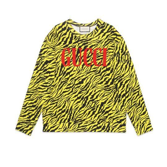 ffd15e2a Oversize sweatshirt with zebra print - Gucci Sweatshirts ...