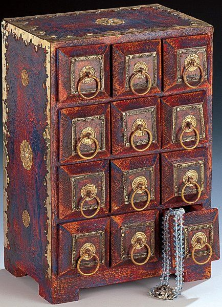 Wiccan Supplies Wood Mullti Drawer Chest By India Arts Ia Wb310 At All Home Decor