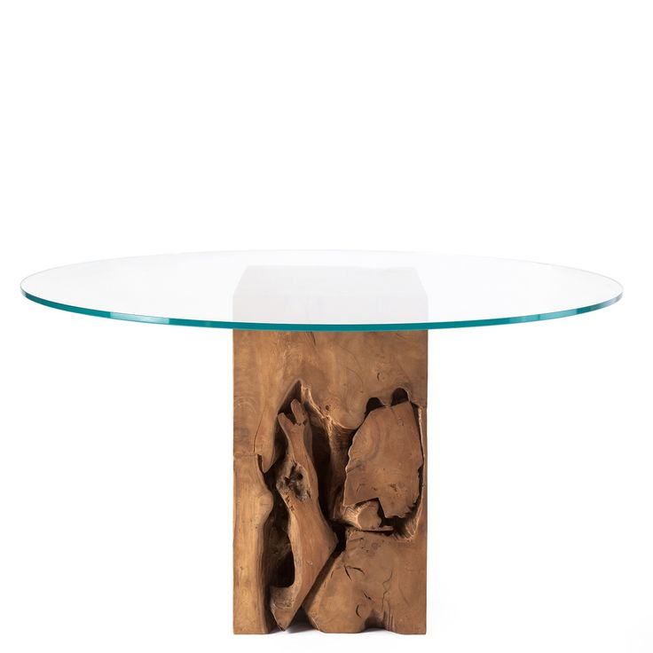 Teak Root Round Glass Top Dining Table Natural Teak | Casa Bonita |  Pinterest | Round Glass, Glass Top Dining Table And Teak