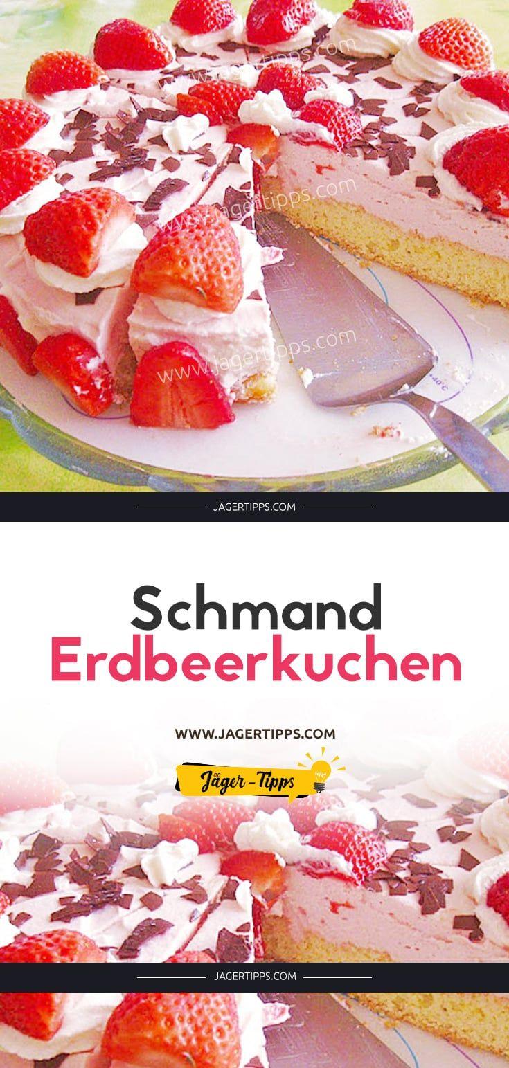 Schmand – Erdbeerkuchen   – Kuchen