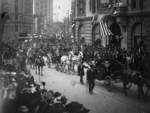 President Theodore Roosevelt visiting Atlanta, Georgia in 1905