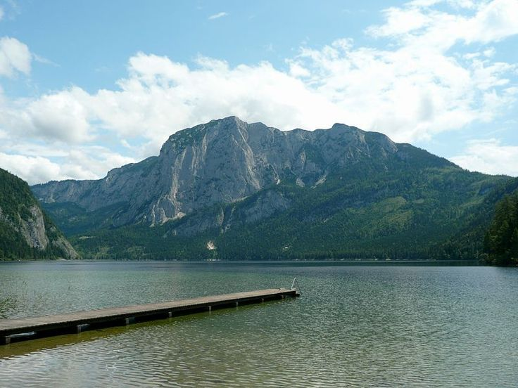 The Lake Altaussee and the Trisselwand Mountain