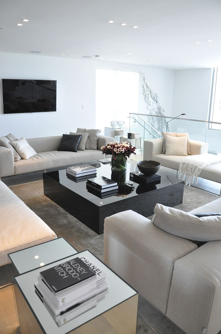 contemporary neutral living space - Ocean House