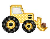 Buy3Get1 FREE - Machine Embroidery Applique Bulldozer - INSTANT DOWNLOAD