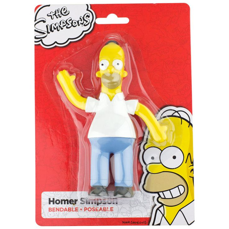 "The Simpsons: Homer Simpson Bendable Figure (6"")"