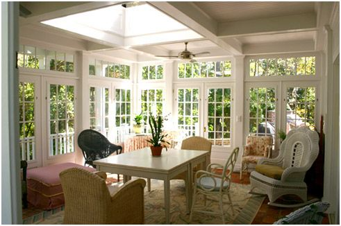 Someday I want to put a sunporch on the back of the house...