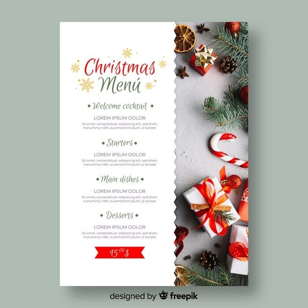 Download Christmas Menu Template With Photo For Free Christmas Menu Christmas Menu Design Menu Template