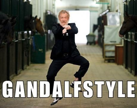 hahahaha. . .. . . . . . Gandalf style!: Like A Boss, Gangnam Style, Laughing, Gandalf Style, The Hobbit, Funny Stuff, Music Videos, Funny Summer, Gandalfstyle