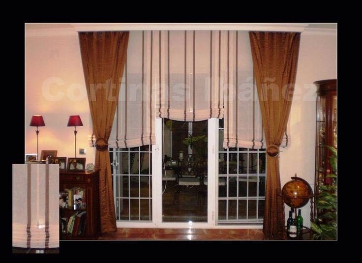 46 mejores im genes sobre cortinajes para ventanas en - Estores con caidas ...