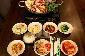 Sydney Madang – Chinatown, 371A Pitt Street  The Korean barbecue experience seems a bit odd at first but is fun dining as you get to barbecue directly at your table.