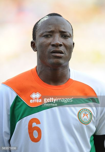 Idrissa Laouali of Niger during the 2012 African Cup of Nations Group C match between Gabon and Niger at the Stade de l'Amitie in Libreville Gabon...