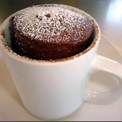 Pastel de chocolate en taza @ allrecipes.com.mx
