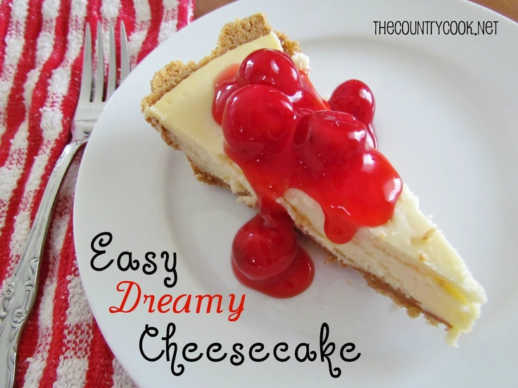 Easy Dreamy CheesecakeCheesecake Bar, Easy Cheesecake, Cream Pies, Easy Dreamy, Dreamy Cheesecake, Country Cooking, Sweets Tooth, Chicken Pots Pies, Cheesecake Recipes